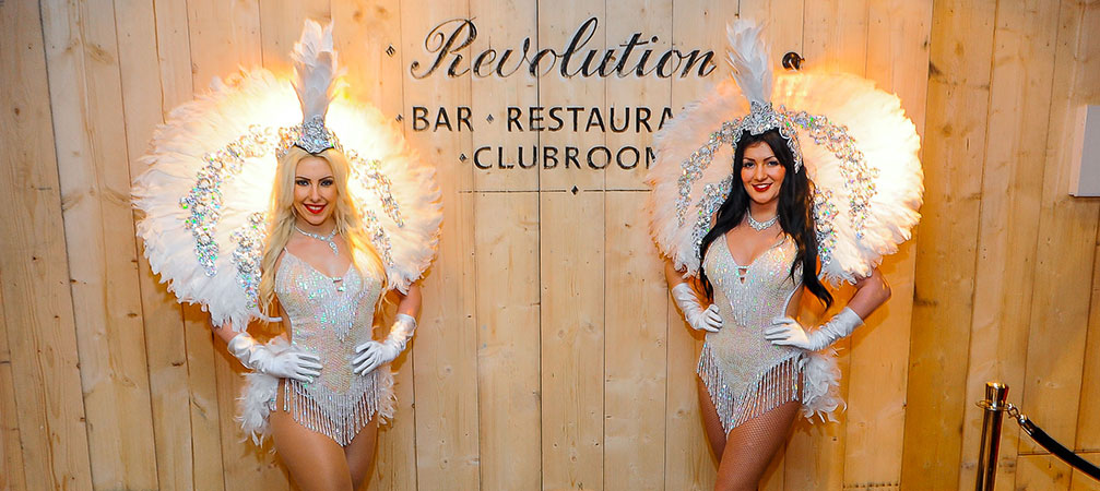 Las Vegas Feather Showgirls for hire in the UK