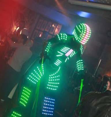 Glowbot LED Robot for hire