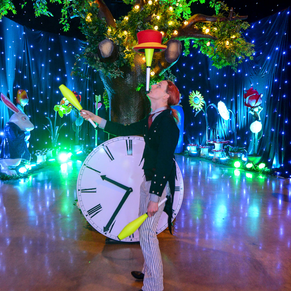 Alice In Wonderland Themed Event Party Mad Hatter for hire UK