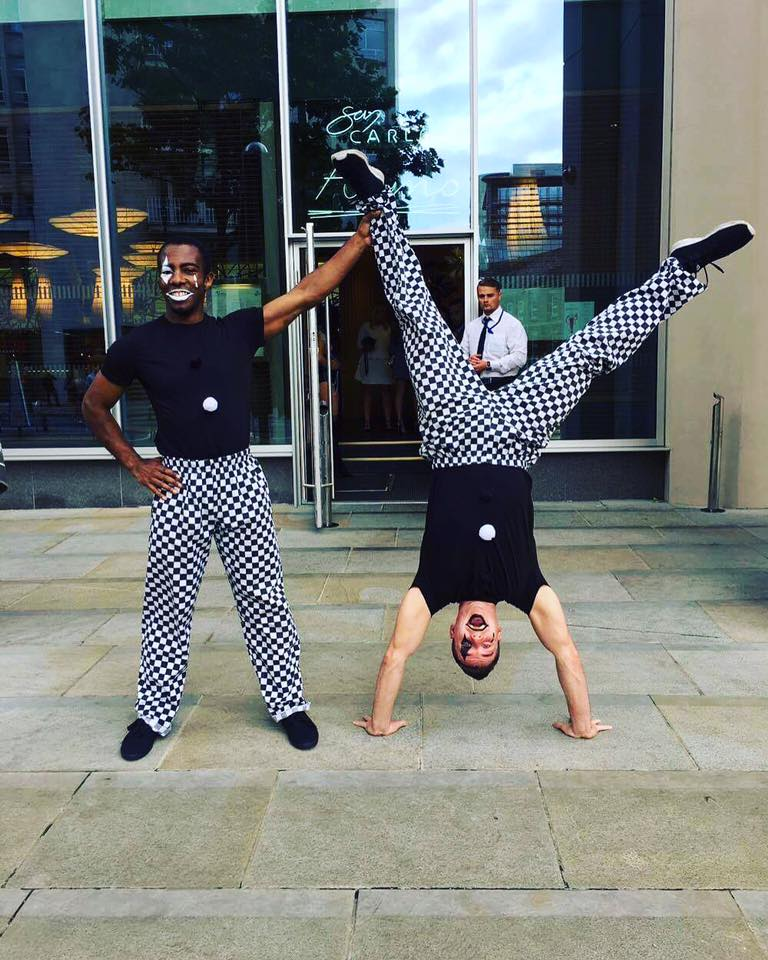 Acrobats & Free Runners Performers Acts for hire