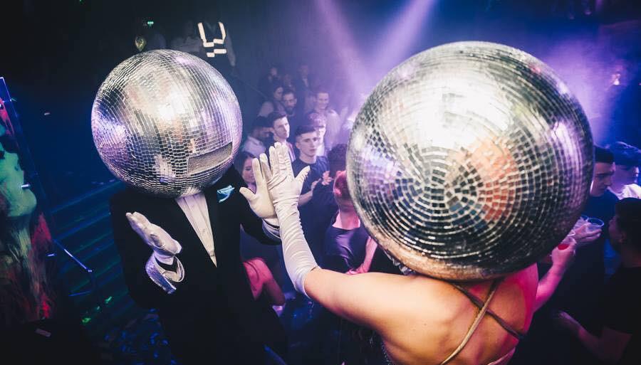 Disco Ball Head Act, Mirror Ball Head Act for hire