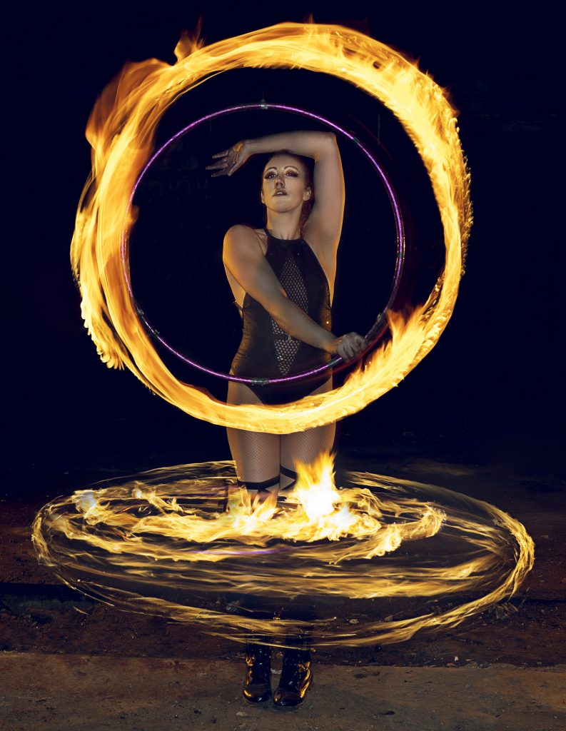Fire Hula Hooper Act Performer for hire