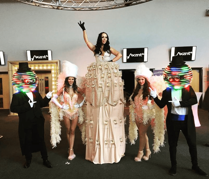 Prosecco Champagne Stilt Dress Hostess for hire
