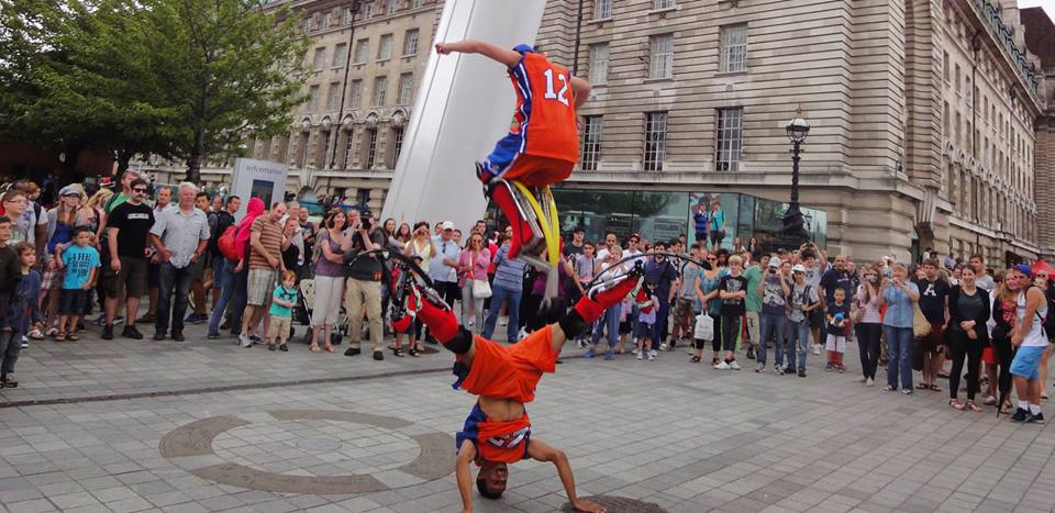 Bouncy Stilt Performers for hire
