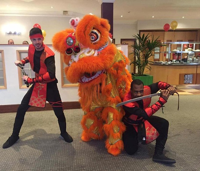 Oriental Chinese Lion Performers Act for hire