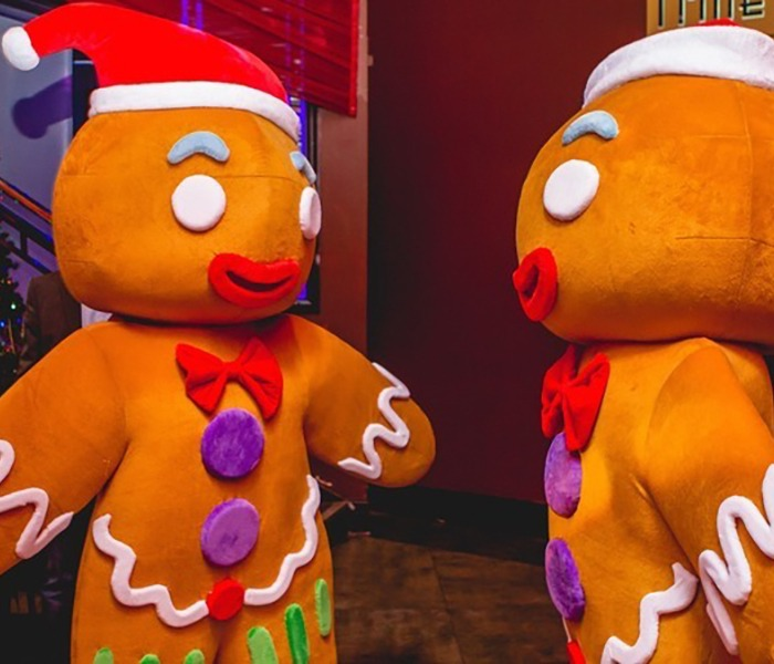 Gingerbread Characters for hire Christmas