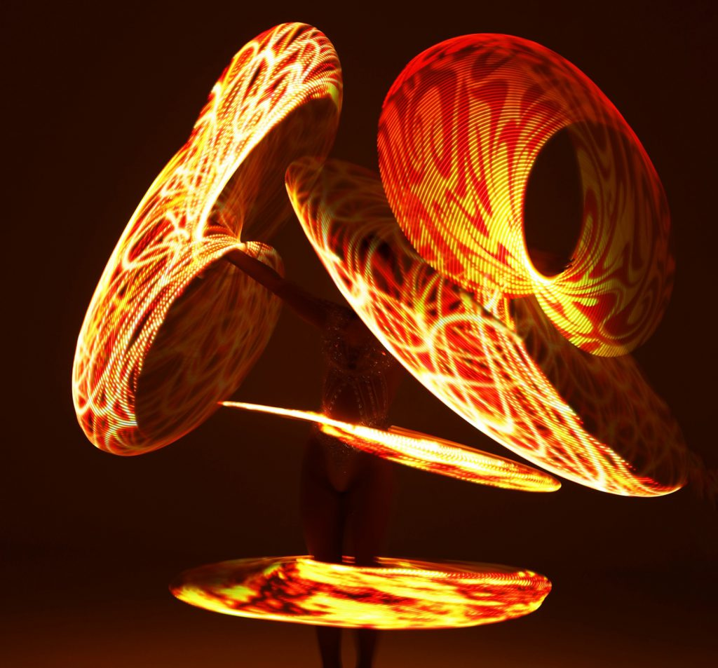 LED Hula Hooper Act Performer for hire