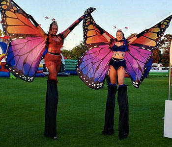 Butterfly Stilt Walkers for hire