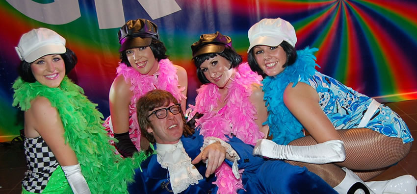 Austin Powers Themed Event for hire Look-a-like