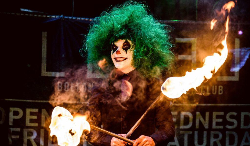 Halloween Fire Performers for Meet & Greet