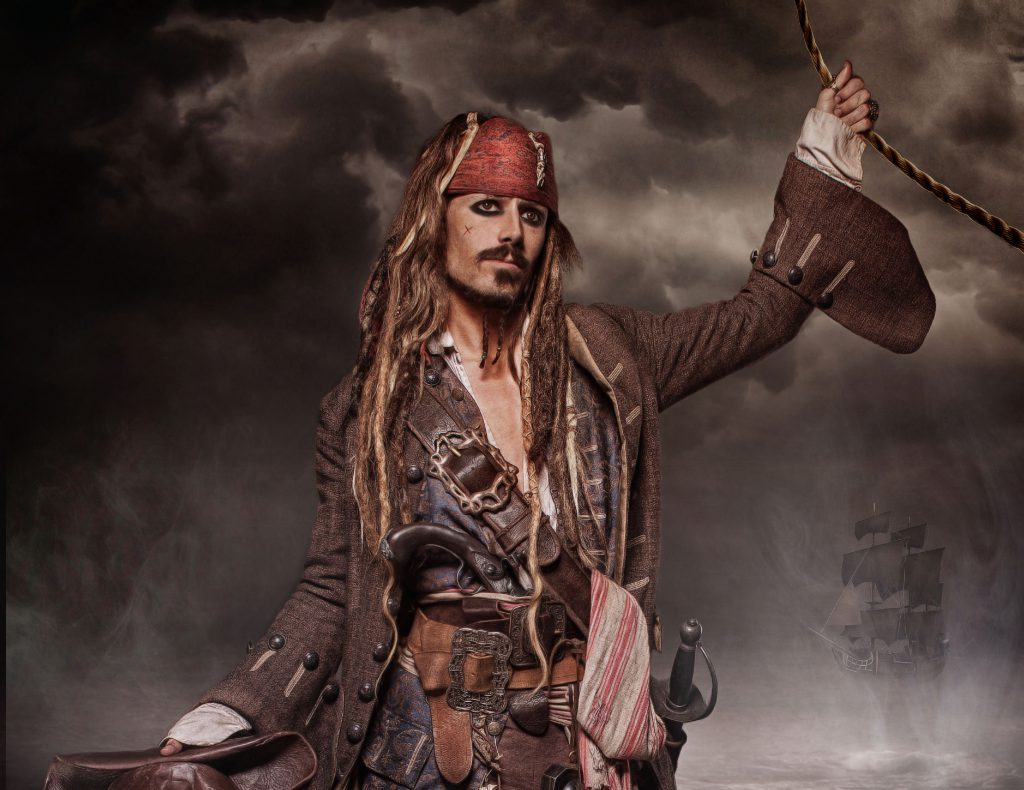 Jack Sparrow Character Pirates Of The Caribbean themed event for hire