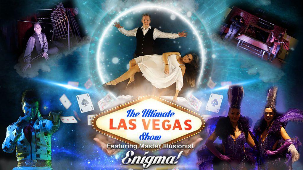 Illusionist Enigma Ultimate Las Vegas Production Show for hire