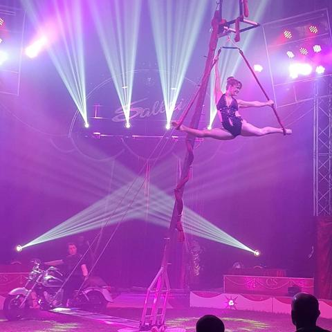 Motorbike Trapeze Carousel Act for hire