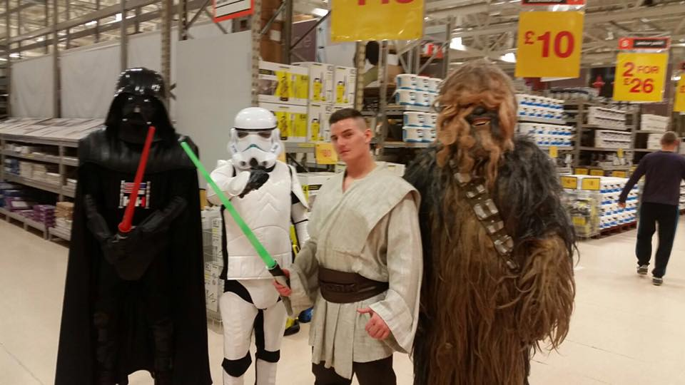 Star Wars Team for Hire, Darth Vader Character hire